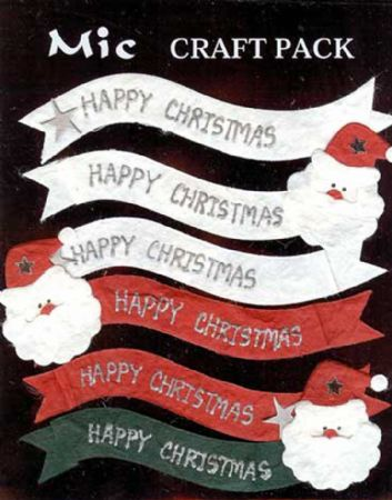 Happy Christmas Father Christmas and Star Banner Toppers